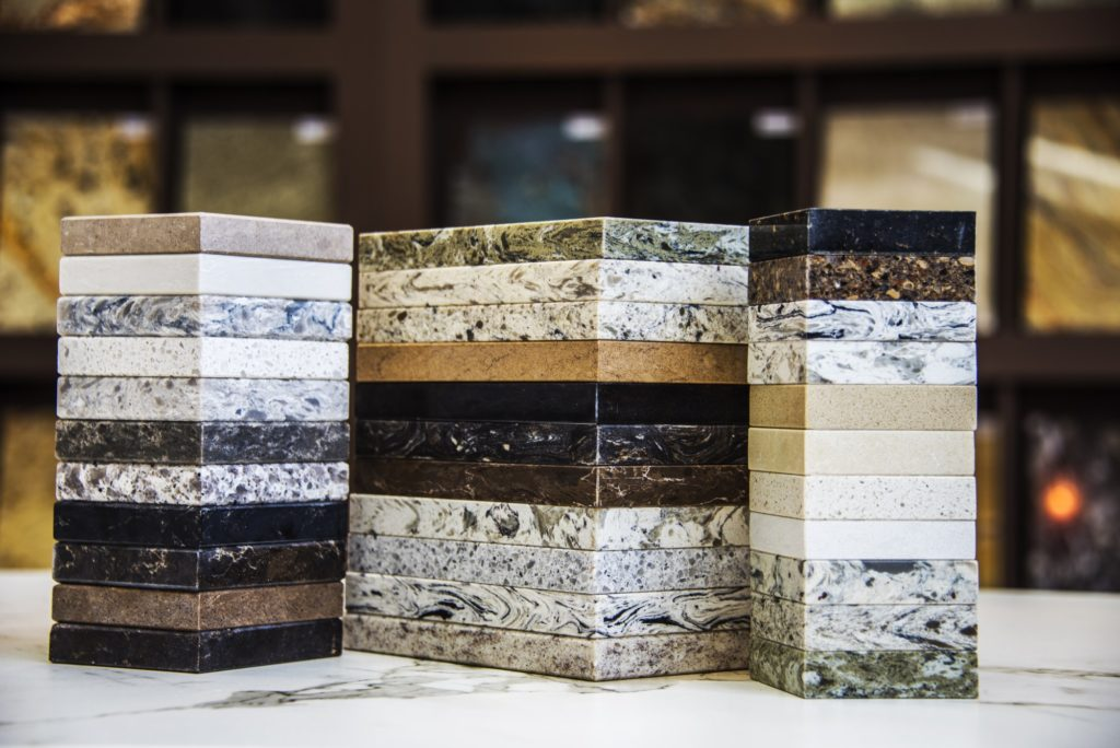 Various types of granite showing the uniqueness behind every slab